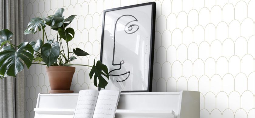 papier peint art déco