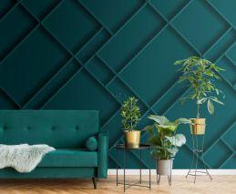 papier peint panoramique panneaux de bois bleu canard