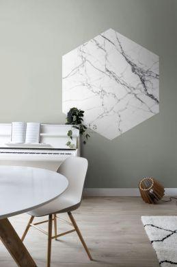 sticker mural salle à manger marbre noir et blanc 159026