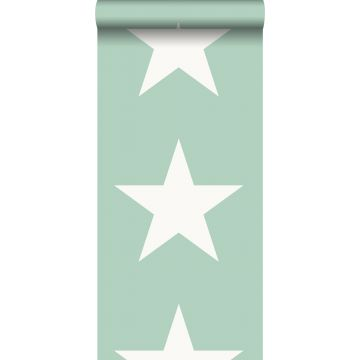 papier peint étoiles vert menthe