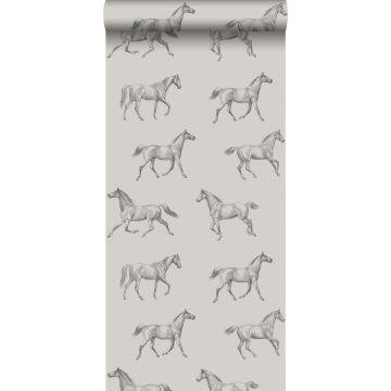 papier peint croquis de chevaux cervine