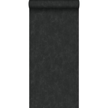 papier peint uni à effet pictural noir