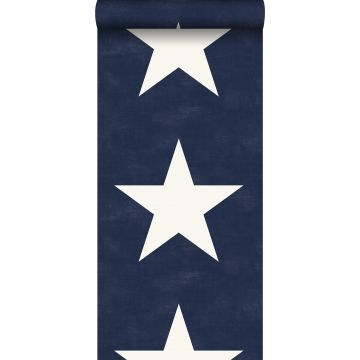 papier peint étoiles bleu marine
