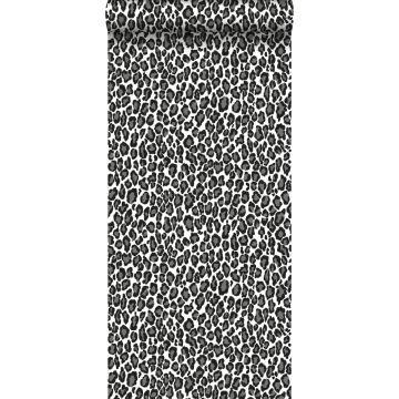 papier peint léopards noir et blanc