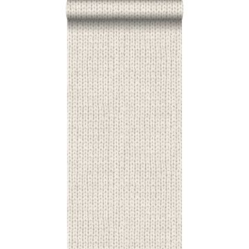papier peint tricoté beige