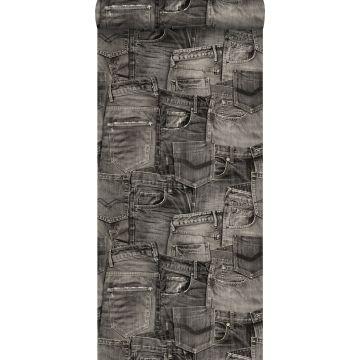 papier peint tissu de jeans noir