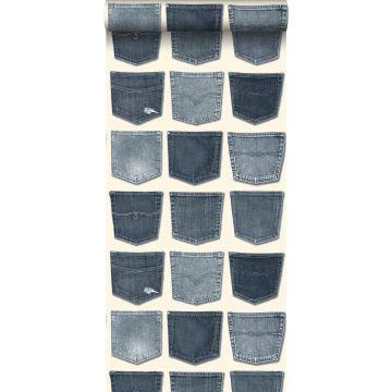 papier peint poches de jeans bleu clair
