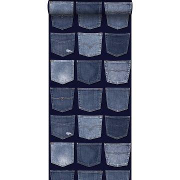papier peint poches de jeans bleu