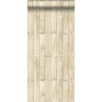 papier peint imitation bois beige