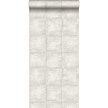 papier peint effet béton gris clair