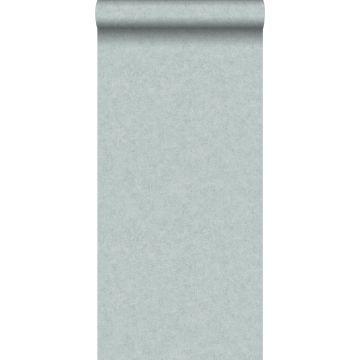 papier peint uni effet béton bleu canard