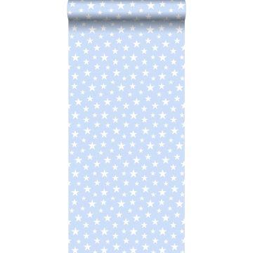 papier peint petites étoiles bleu clair