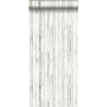 papier peint imitation bois vieux blanc