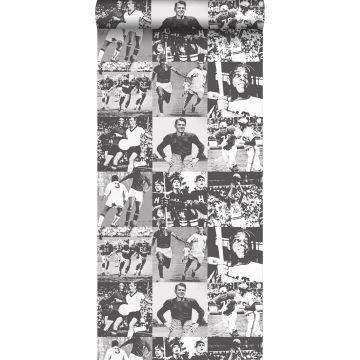 papier peint héros sportifs noir et blanc