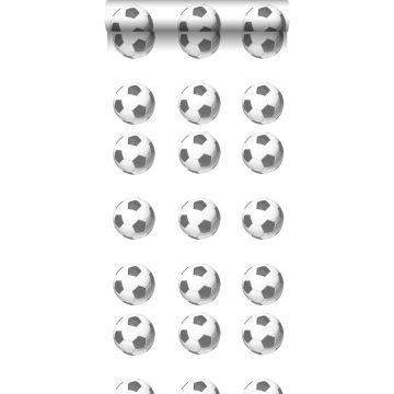 papier peint ballons de football noir et blanc