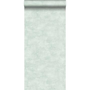 papier peint effet béton vert menthe pastel clair