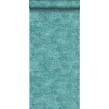papier peint effet béton turquoise