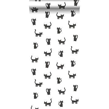 papier peint chatons noir et blanc