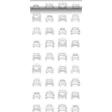 papier peint voitures anciennes noir et blanc