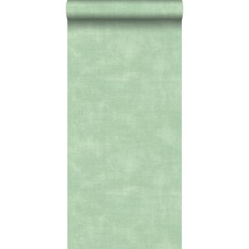 papier peint effet béton vert menthe