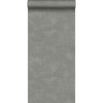 papier peint effet béton gris foncé