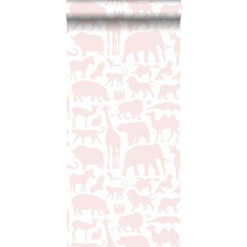 papier peint animaux rose clair