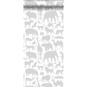 papier peint animaux gris