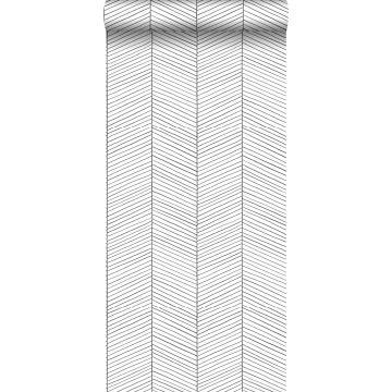 papier peint chevron noir et blanc