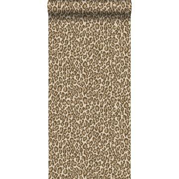 papier peint peau de léopard marron