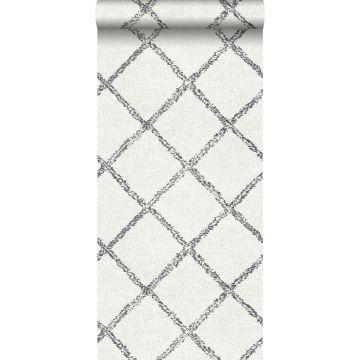 papier peint tapis oriental berber noir et blanc mat
