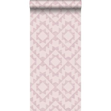 papier peint tapis Marrakech rose lilas