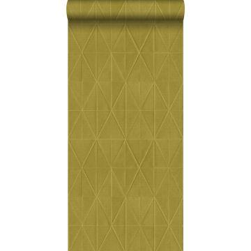 PP intissé éco texture origami jaune ocre