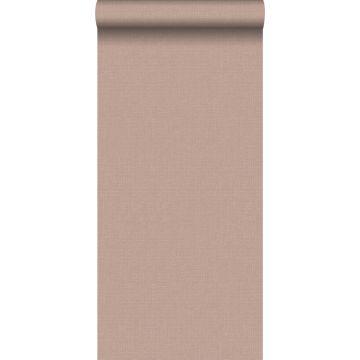 papier peint effet lin rouge grisé clair
