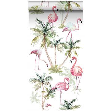 papier peint intissé XXL flamants rose