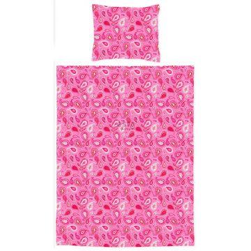 jeu housse de couette pour lit junior paisleys rose bonbon