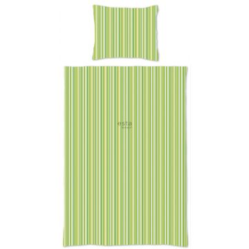 jeu de house de couette simple à rayures vert citron