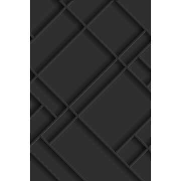 papier peint panoramique panneaux de bois gris charbon de bois