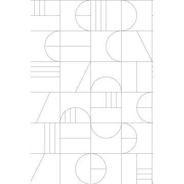papier peint panoramique art déco blanc et noir