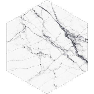 sticker mural marbre noir et blanc