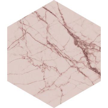 sticker mural marbre gris rose
