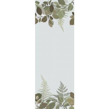 papier peint panoramique animaux de la forêt vert et marron