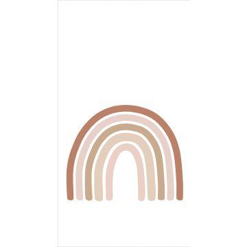 papier peint panoramique arc en ciel terracotta, rose clair et beige