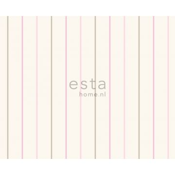 tissu à rayures rose