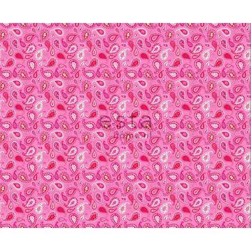 tissu paisleys rose bonbon