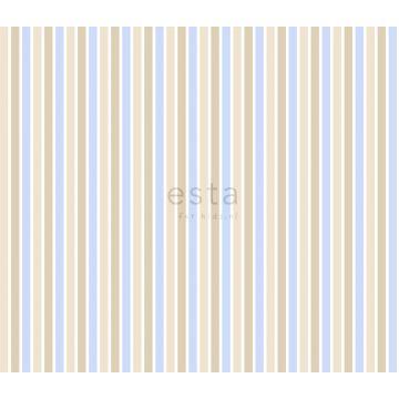 tissu à rayures bleu clair et beige