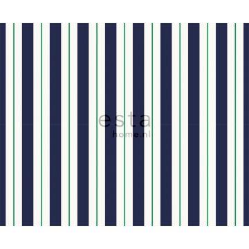 tissu à rayures bleu marine et vert