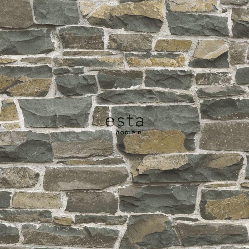 papier peint mur de pierre marron